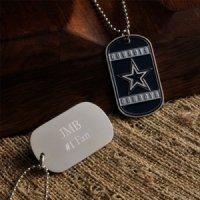 Personalized True Colors NFL Dog Tags