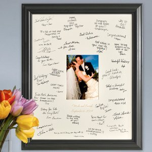 Laser Engraved Wedding Wishes Signature Frame image