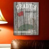 Personalized Golf Canvas Print