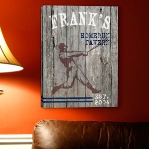 Personalized Homerun Canvas Print image