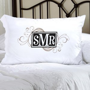 Personalized Cheerful Monogram Pillow Case image