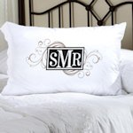Personalized Cheerful Monogram Pillow Case