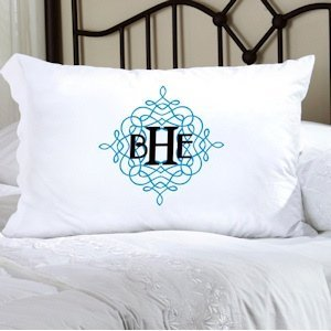 Personalized Wistful Monogram Pillow Case image