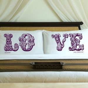 Personalized LOVE Pillow Case Sets (8 Colors) image
