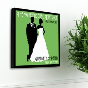 Personalized Wedding Couple Studio Canvas (6 Colors) image