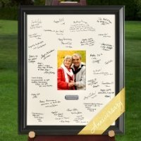 Personalized Anniversary Party Signature Frame