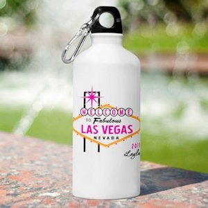 Personalized Las Vegas Gals Water Bottles - 5 Designs image