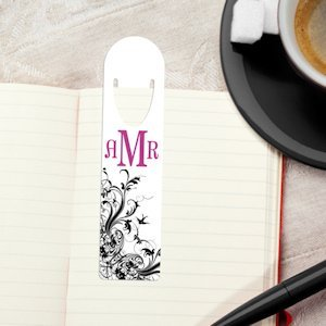 Monogram Personalized Bookmarks - 4 Designs image
