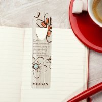Famous Quotes Personalized Bookmarks - 3 Designs