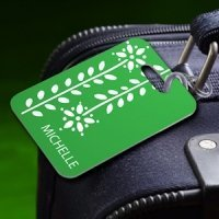 Personalized Botanic Luggage Tag