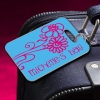 Personalized Daisy Luggage Tag