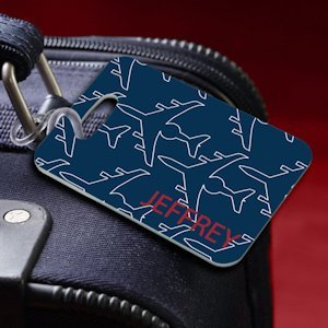 Personalized Jet Setter Navy Luggage Tag image
