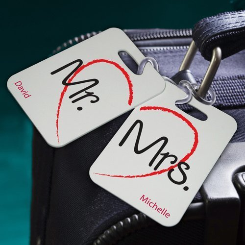 Personalized Honeymoon Luggage Tags 7 Designs