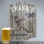 Vintage Woodgrain Sports Pub Signs (5 Designs)