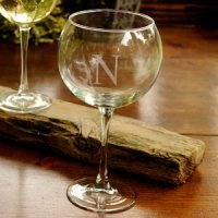 Personalized Initial Red Wine Glass