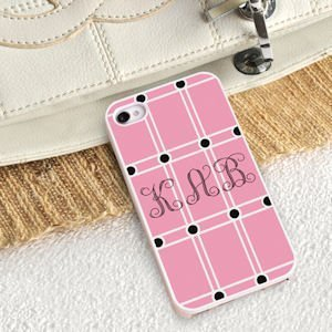 Personalized Perky Pink iPhone Case image