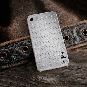 Diamond Plate Personalized iPhone Case image