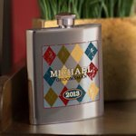 Personalized Argyle Design Flasks for Men (4 Options)