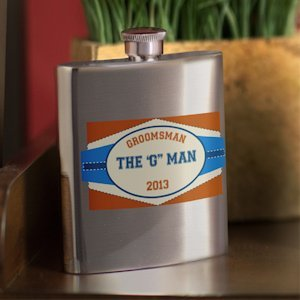Personalized Private Label Wedding Party Flask (4 Options) image