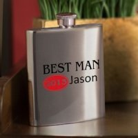 Personalized Red Hot Bridal Party Flasks (4 Options)