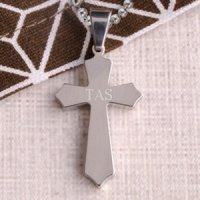 Classic Cross Personalized Necklace