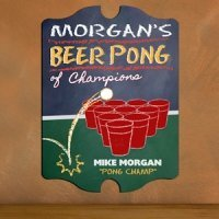 Vintage Personalized Beer Pong Champion Pub Sign