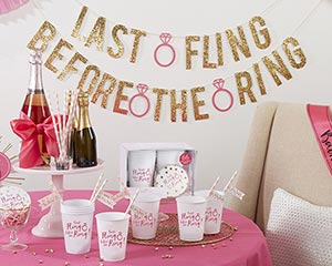 Last Fling Before the Ring 66 Piece Bachelorette Party Kit image