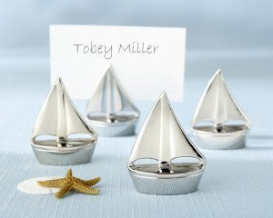Silver Sailboat Place Card Holders (Set of 4) image