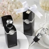 Chrome Diamond Ring Bottle Stopper