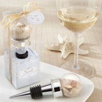 Seaside Sand and Shell Filled Globe Bottle Stopper