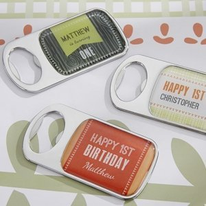 Personalized Woodland Birthday Bottle Openers image