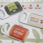 Personalized Woodland Birthday Bottle Openers