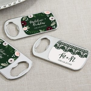 Personalized Romantic Garden Bottle Opener image