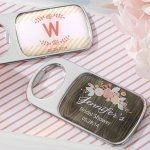 Rustic Theme Personalized Bottle Opener Shower Favors