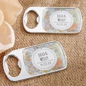 Personalized Travel and Adventure Silver Bottle Opener image