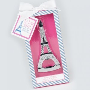 Parisian Eiffel Tower Bottle Opener Wedding Favor image