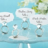 Diamond Ring Place Card or Photo Holders (Set of 6)