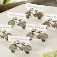 Vintage Bicycle Place Card or Photo Holders (Set of 6)