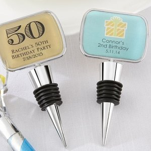 Personalized Bottle Stopper Birthday Party Favors image