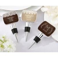Personalized Rustic Charm Bottle Stopper Favors