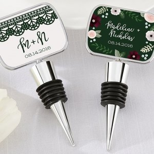 Personalized Romantic Garden Bottle Stopper Favors image