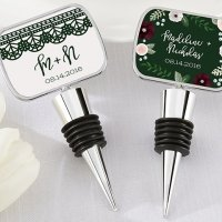 Personalized Romantic Garden Bottle Stopper Favors