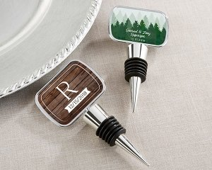 Personalized Winter Design Bottle Stopper Favors image