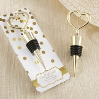 Heart of Gold Bottle Stopper Favors