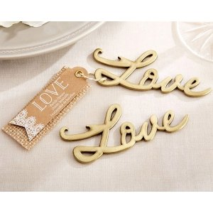 Love Antique Gold Bottle Opener image