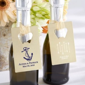 Personalized Wedding Design Gold Credit Card Bottle Opener image