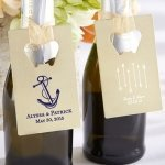 Personalized Wedding Design Gold Credit Card Bottle Opener