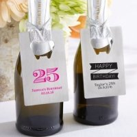 Personalized Silver Credit Card Birthday Bottle Opener Favor