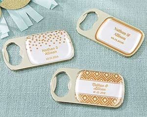 Personalized Copper Foil Gold Bottle Openers image