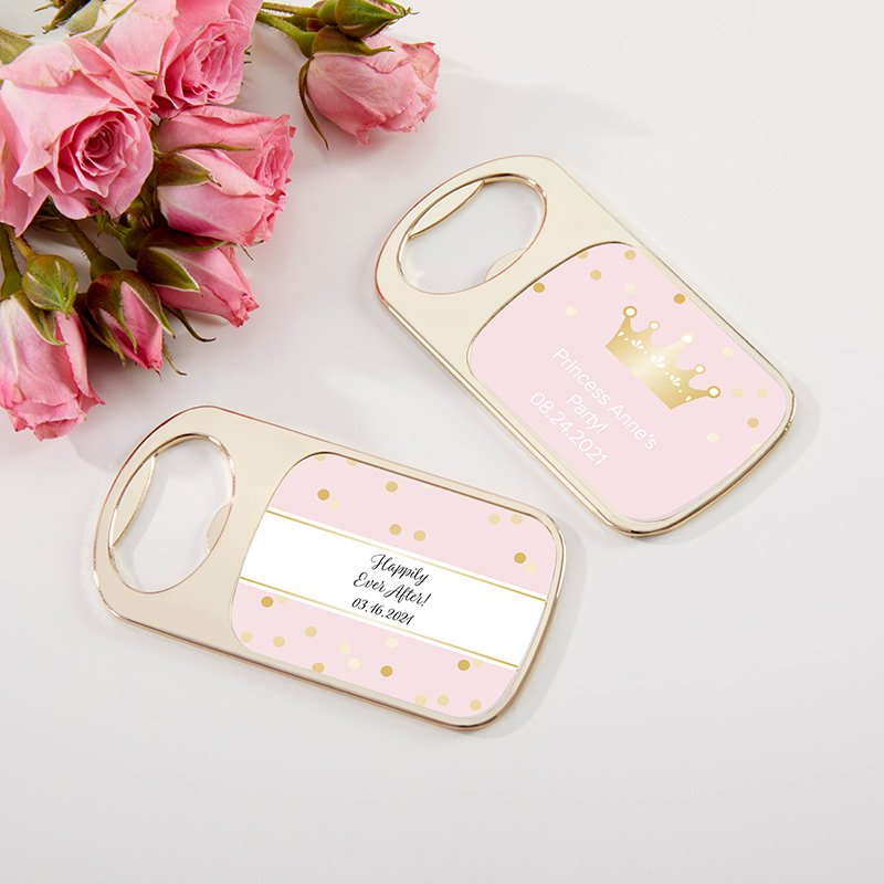 Personalized Gold Bottle Opener - Princess Party image